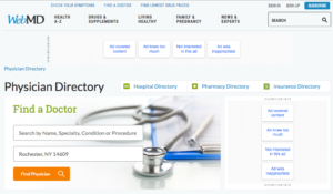 webmd top doctor review sites