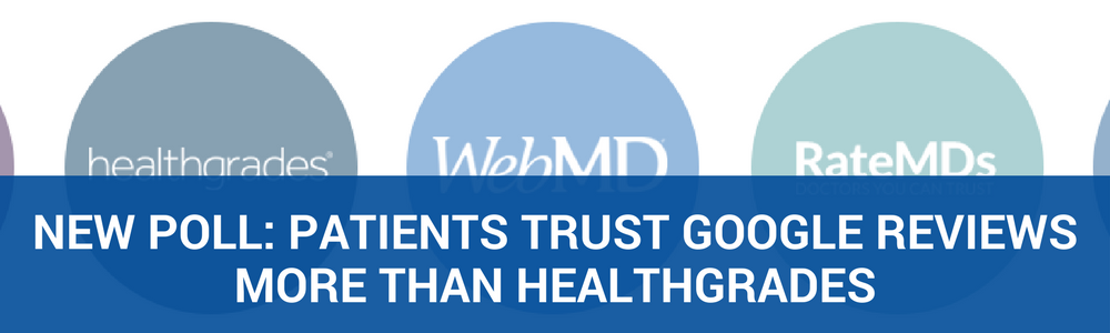New Poll: Patient's Trust Google Reviews More Than HealthGrades