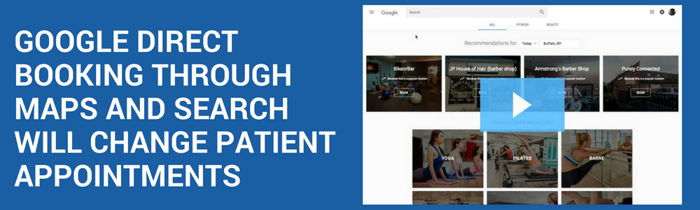Google Direct Booking Patient Appointments