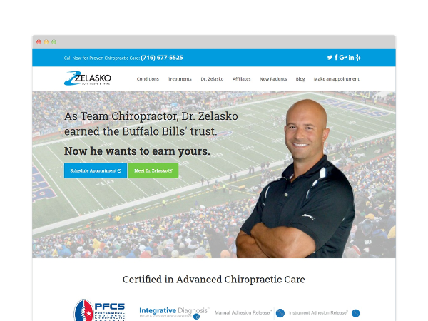 Image of Chiropractor Website Design