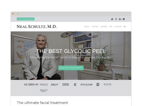 Image of Dermatologist Website Design