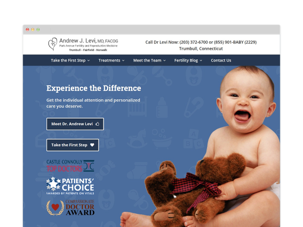 Image of Fertility Clinic Website Design