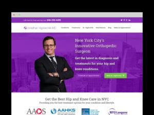 Image of Hip Surgeon Website Design