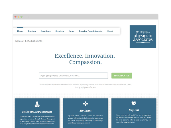 Image of Hospital Website Design