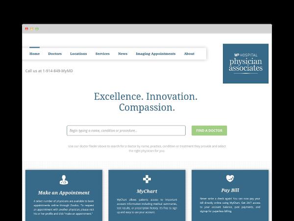 Image of Hospital Website Design