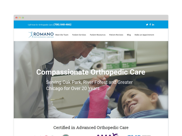 Image of Orthopedic Surgeon Website Design