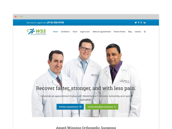 Image of Orthopedic Website Design